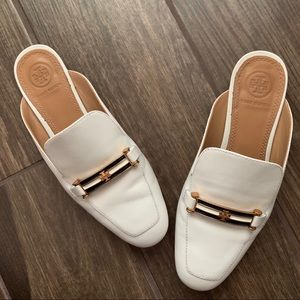 Tory Burch Amelia Backless Loafers Perfect Ivory